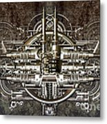 Technically Electronic Background Metal Print by Diuno Ashlee