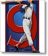 Ted Williams Metal Print by Ron Regalado