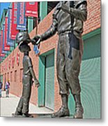 Ted Williams Statue Metal Print by Barbara McDevitt