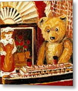 Teddy Bear With Tugboat Doll And Fan Childhood Memories Old Toys And Collectibles Nostalgic Scenes  Metal Print by Carole Spandau