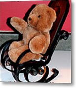 Teddy's Chair - Toy - Children Metal Print by Barbara Griffin