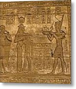 Temple At Denderah Egypt Metal Print by Brenda Kean