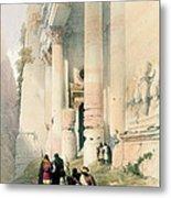 Temple Called El Khasne Metal Print by David Roberts