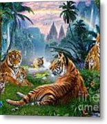 Temple Lake Tigers Metal Print by Jan Patrik Krasny