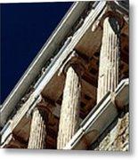 Temple Of Athena Nike Columns Metal Print by John Rizzuto