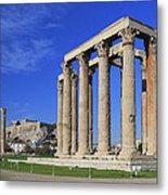 Temple Of Olympian Zeus Athens Greece Metal Print by Ivan Pendjakov