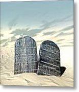 Ten Commandments Standing In The Desert Metal Print by Allan Swart
