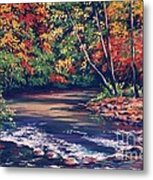 Tennessee Stream In The Fall Metal Print by John Clark