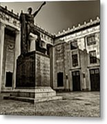 Tennessee War Memorial Black And White Metal Print by Joshua House