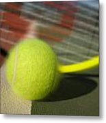 Tennis Ball And Racquet Metal Print by Joe Belanger