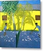 Tennis  Cuba Metal Print by Andrew Macara