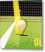 Tennis Hawkeye Out Metal Print by Natalie Kinnear