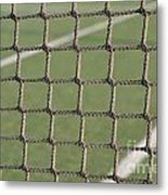 Tennis Net Metal Print by Luis Alvarenga