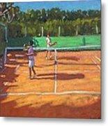 Tennis Practice Metal Print by Andrew Macara