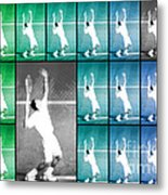 Tennis Serve Mosaic Abstract Metal Print by Natalie Kinnear