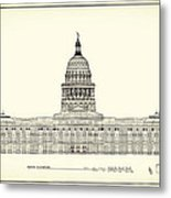 Texas State Capitol Architectural Design Metal Print by Mountain Dreams