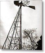 Texas Windmill Metal Print by Marilyn Hunt