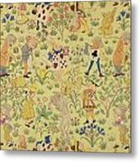 Textile Design For Alice In Wonderland Metal Print by Voysey