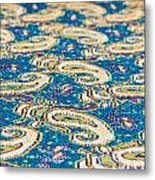 Textile Pattern Metal Print by Tom Gowanlock
