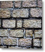 Texture Of Old Wall Metal Print by Niphon Chanthana