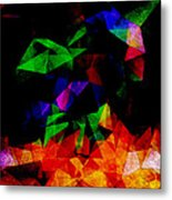 Textured Triangles With Color Metal Print by Phil Perkins
