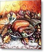 Thanksgiving Dinner Metal Print by Shana Rowe Jackson