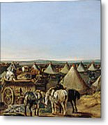 The 10th Regiment Of Dragoons Arriving Metal Print by A.E. Eglington