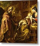 The Adoration Of The Magi Metal Print by Orazio de Ferrari