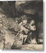 The Agony In The Garden Metal Print by Rembrandt