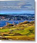 The Amazing Chambers Bay Golf Course - Site Of The 2015 U.s. Open Golf Tournament Metal Print by David Patterson