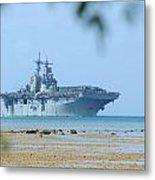 The Amphibious Assault Ship Uss Boxer  Metal Print by Paul Fearn