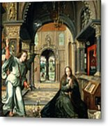 The Annunciation, Early 16th Century Metal Print by Bernart van Orley
