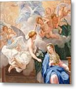 The Annunciation Metal Print by Giovanni Odazzi