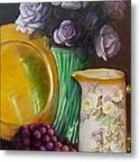 The Antique Pitcher Metal Print by Marlene Book