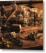 The Apothecary Metal Print by Priscilla Burgers