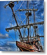 The Approaching Storm - Spanish Galleon Metal Print by Lee Dos Santos