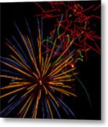 The Art Of Fireworks  Metal Print by Saija  Lehtonen