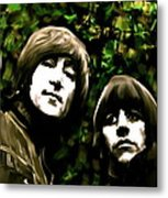 The Art Of Sound  The Beatles Metal Print by Iconic Images Art Gallery David Pucciarelli