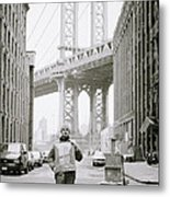 The Artist In New York Metal Print by Shaun Higson