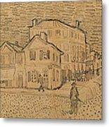 The Artists House In Arles Metal Print by Vincent Van Gogh