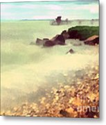 The Balaton Shore Metal Print by Odon Czintos