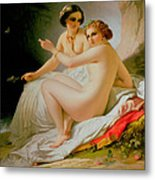 The Bathers Metal Print by Louis Hersent