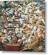 The Battle Of Lepanto, 7th October Metal Print by Everett