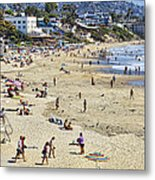 The Beach At Laguna Metal Print by Kelley King