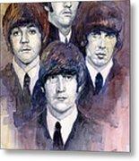 The Beatles 02 Metal Print by Yuriy  Shevchuk