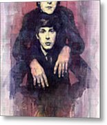 The Beatles John Lennon And Paul Mccartney Metal Print by Yuriy  Shevchuk
