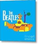 The Beatles No.11 Metal Print by Caio Caldas