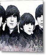 The Beatles Metal Print by Yuriy  Shevchuk