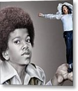 The Best Of Me - Handle With Care - Michael Jacksons Metal Print by Reggie Duffie