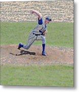 The Big Baseball Pitch Digital Art Metal Print by Thomas Woolworth